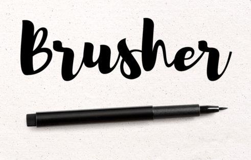 fuentes pincel brusher enfoquegaussiano