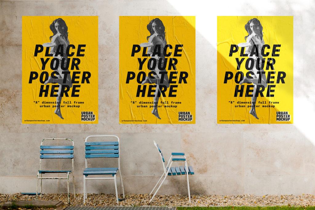 Mockup gratis free carteles posters