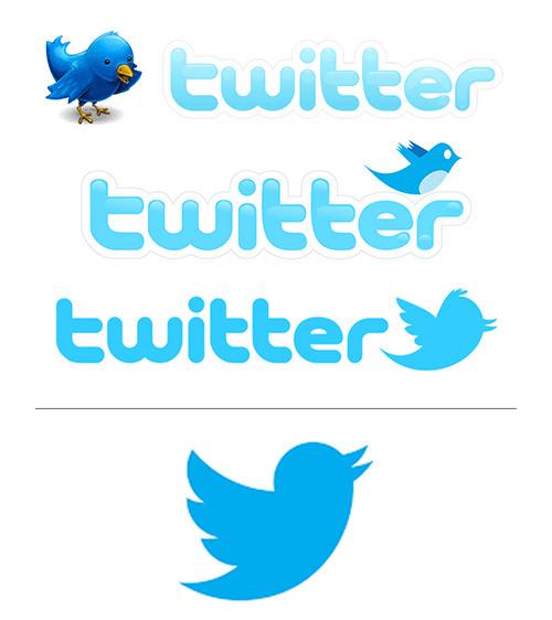 evolucion logo de twitter