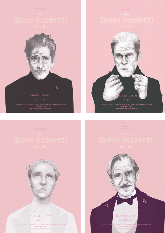 Cartel alternativo Grand Hotel Budapest