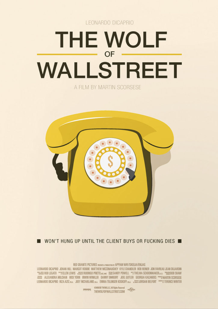 Cartel alternativo The Wolf of Wall Street