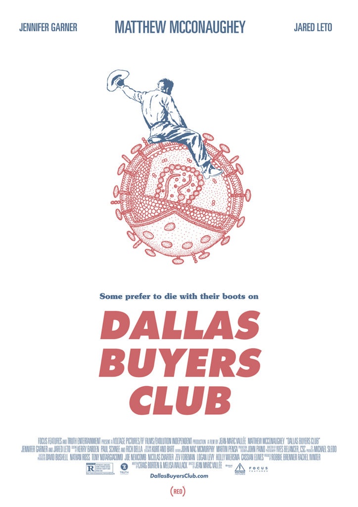 Cartel alternativo Dallas Buyer Club