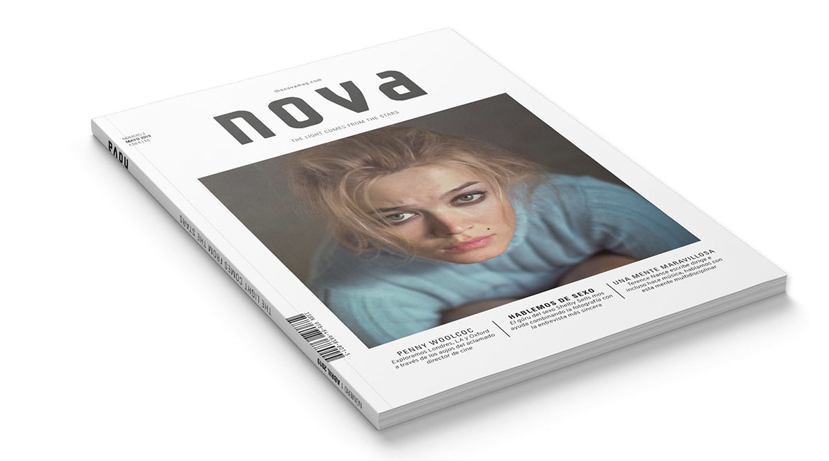 Diseño de la revista Nova. Diseño de concepto, cubiertas y tripas.