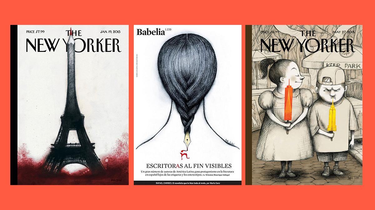 Ilustraciones de Ana Juan en The New Yorker y Babelia, de El País.