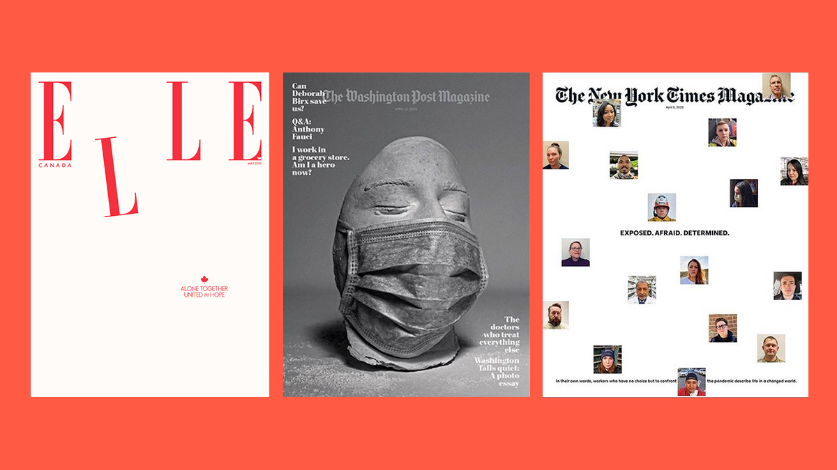 Portadas de Elle Canadá, The Washington Post Magazine y The New York Times Magazine.