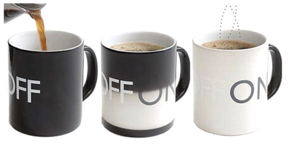 Acabados y materiales Packaging - Taza on/off