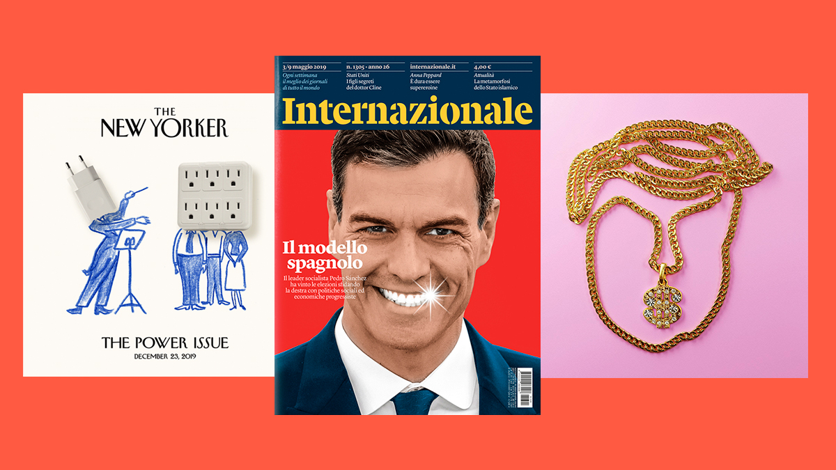 Trabajos de Javier Jaén en The New Yorker, Internazionale y The New York Times Magazine.