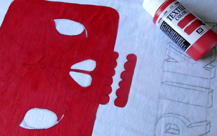 usamos pintura de tela para las masas de color 3